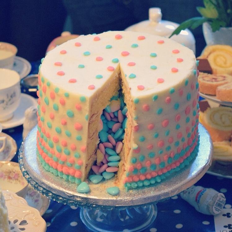Pinata Cake inside
