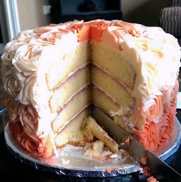 Rosette Cake inside