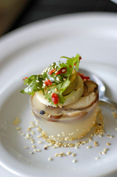 mushroom-sesame jelly
